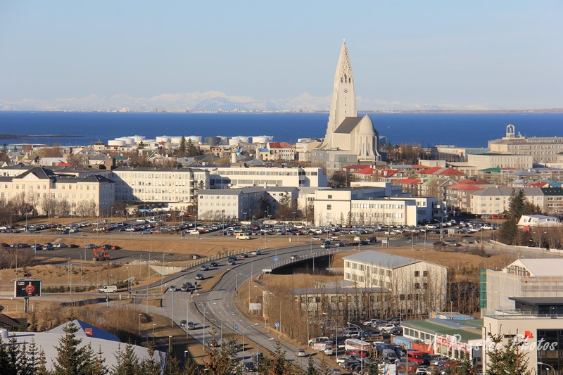 Reykjavik from the Pearl