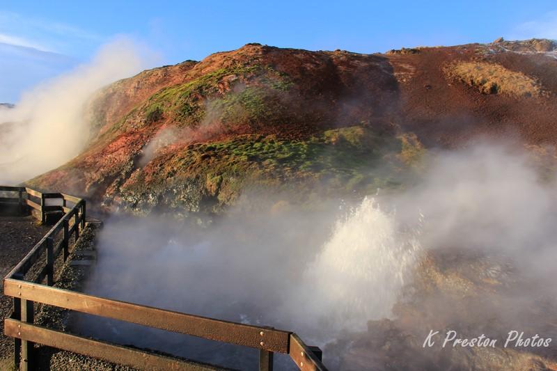Deildartunguhver - the highest flow hot spring in Europe